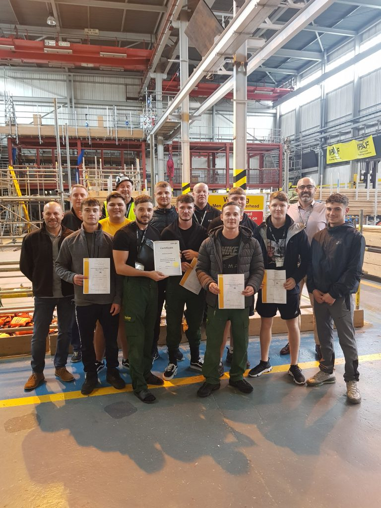 Group CE - Scaffolding apprentices